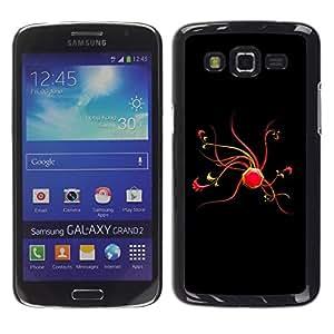 Paccase / SLIM PC / Aliminium Casa Carcasa Funda Case Cover - Abstract Red - Samsung Galaxy Grand 2 SM-G7102 SM-G7105