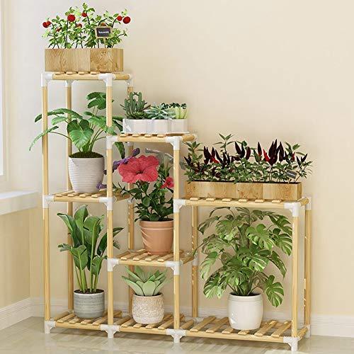 HBY Escalera De Madera for Flores Estantería for Plantas La Multi ...