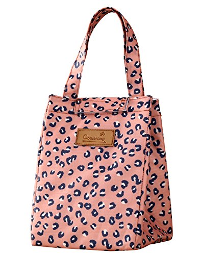 WOOSAL Cute Insulated Lunch Bag Lunch Tote Cooler Bag for Women Kids Student (Leopard)