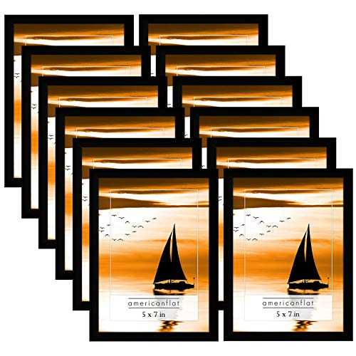 (Americanflat Frames with Glass Fronts (12 Pack - 5x7))