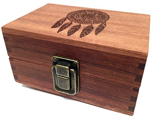 Dreamcatcher-Wood-Stash-Box-Engraved-with-Metal-Latch-Rolling-Papers-Wooden-Decorative-Premium-Quality-Boxes-for-Home-Decoration-Dreamcatcher