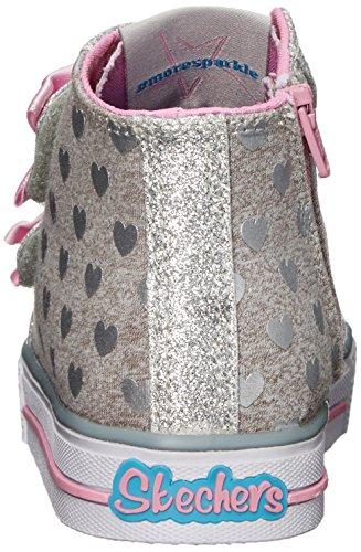 Gypk Doodle Baskets Fille Skechers Gris Hautes Shuffles Rose Gris Days gR0q5w0