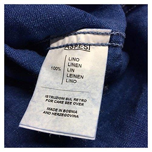 Denim Aspesi Sem Ce52 Lino Mod E309 Uomo 100 Colore Camicia Ii qtwntTp