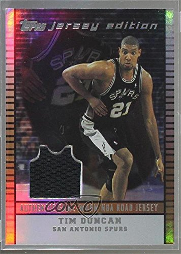 Tim Duncan #258/299 (Basketball Card) 2002-03 Topps Jersey Edition - [Base] - Copper #je TD ()