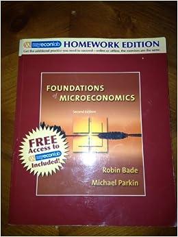 Book Foundations of Microeconomics: Homework Edition