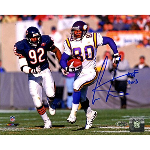 Cris Carter Running vs. Bears Defender 8x10 Photo w/ HOF Insc. (Carter Photograph Cris)