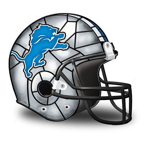 NFL Detroit Lions Accent Helmet Lamp by The Bradford Exchange