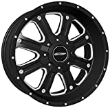 Pro Comp Alloys Series 82 Phantom Matte Black Wheel with Milled Accents (17x9''/5x127mm)