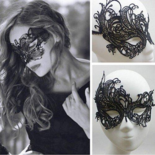 SUNONE11 Women Lady Black Eye Mask Sexy Lace Venetian Masquerade Ball Hallowe... (Sexy Womens Fancy Dress)