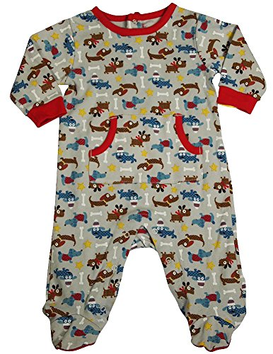 Happi by Dena - Baby Boys Long Sleeve Footed Coverall, Grey 34841-3-6Months (Long Sleeve Footed Coverall)