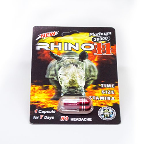 Male Enhancement Enlargement Pills - Rhino 11 30000 Platinum Male Enhancement Pills (6 Packs)