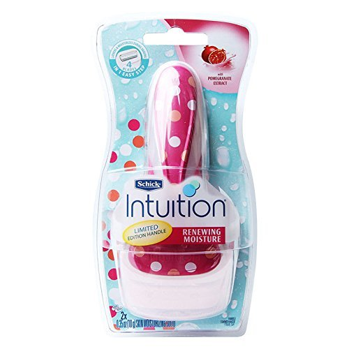 Schick Intuition Pomegranate Extract Renewing Moisture Razor + 1 Extra Cartridge
