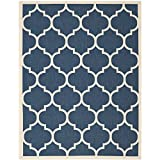 Safavieh Courtyard Collection CY6914-268 Navy and Beige Indoor/Outdoor Area Rug (8′ x 11′) For Sale
