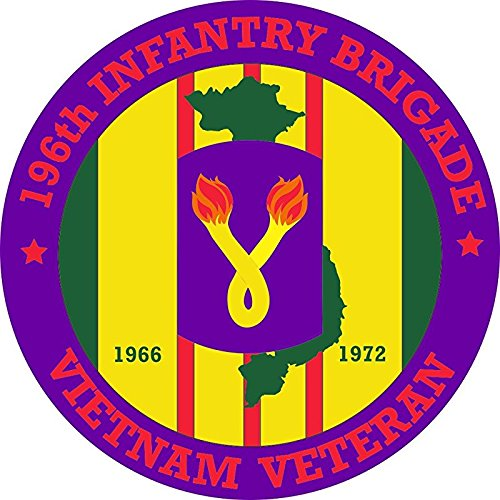 196th Light - MAGNET 196th Light Infantry Brigade Vietnam Veteran 10 Inch Magnetic Sticker Decal