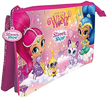 Amazon.com: Disney – Shimmer Pencil Case with 3 compartments ...