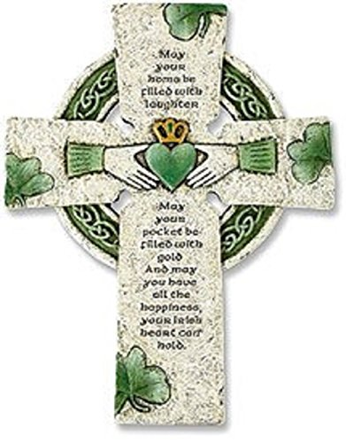 Vminno Irish Wall Cross with Traditional Irish Blessing (Standard Version) (Celtic Wedding Decorations)