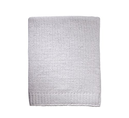 - Little Love by NoJo Separates Collection Knit Chenille Blanket, Grey