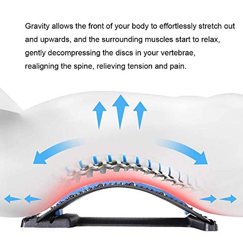 Back Stretcher Adjustable for Lumbar Pain Relief - HONGJING Spine Reset Device for Back Stretching & Muscle Relaxation, Regain Your Perfect Waist Curve