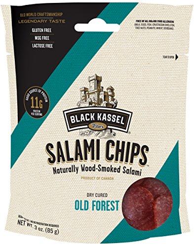 Piller's Black Kassel Old Forest Salami Chips, 3 Ounce)