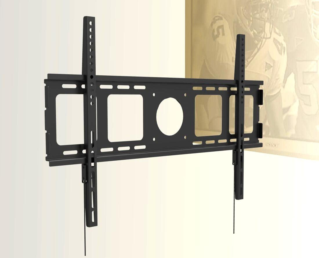 Super Slim 1 Flat Wall Mount for Samsung LG LED TV 40 , 46 , 48 49 50 55 , 60 , 65 , 70 with Dual Security String and Screw Lock
