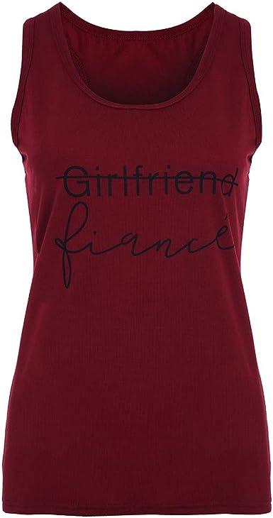 YEBIRAL Camiseta de Tirantes para Mujer,Verano Mujeres Casual ...