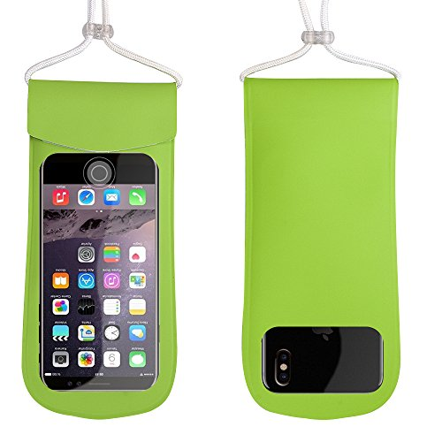 Bags Lock Quality Zip (HSOMiD PREMIUM QUALITY Fingerprint Unlock Waterproof Phone Holder Floating Pouch TPU Dry Bag - Sturdy Leakage Proof Pouch Bag for Iphone,Android,Smartphone up to 5'' (Green))