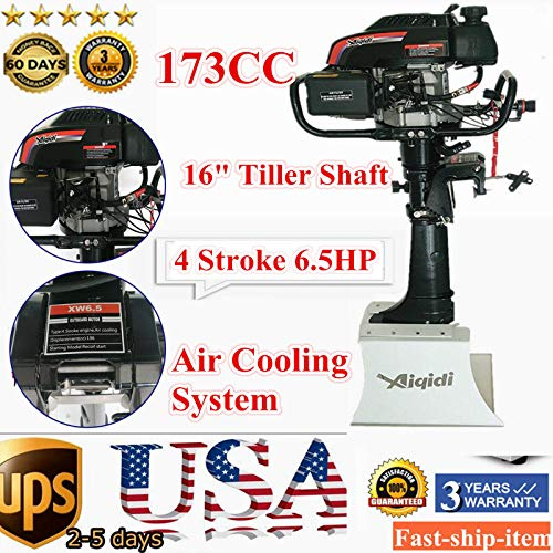 - NOPTEG Anqidi 4/6.5/7HP 2/4 Stroke Heavy Duty Outboard Motor Boat Engine w/Water Air Cooling System for Small Fishing Boat Version