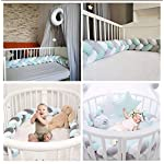 Baby-Crib-Bumper-Plush-Nursery-Cradle-Decor-Knotted-Braided-Junior-Bed-Sleep-Safety-Bedside-Padded-Plush-Cushion-for-Newborn-Gift-118-inch