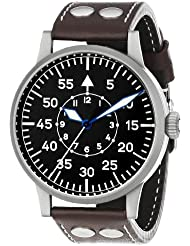 Laco / 1925 Mens 861751 Laco 1925 Pilot Classic Stainless Steel Mechanical Watch with Brown Leather Band