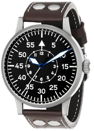 Laco / 1925 Men's 861751 Laco 1925 Pilot Classic Stainless Steel Mechanical Watch with Brown Leather Band ()