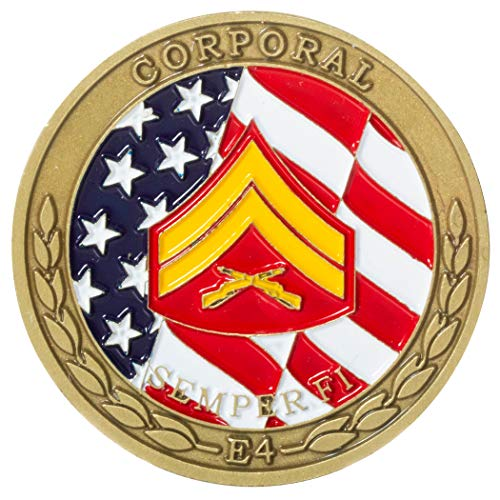 (United States Marine Corps Corporal Non-Commissioned Officer Rank Challenge Coin)