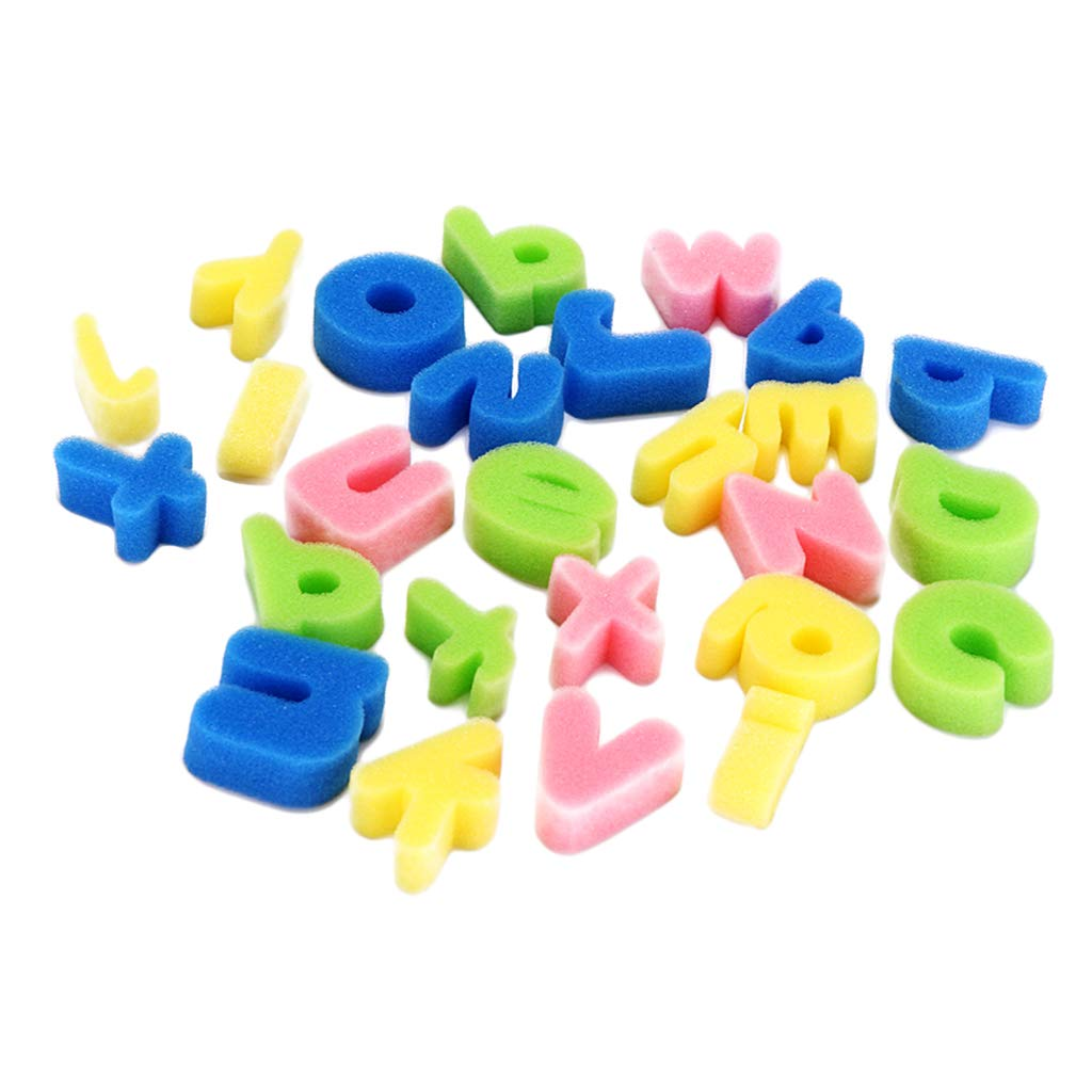 dailymall 26 Letters Foam Sponge Finger Painting Alphabets Lower Case Kids Bath Toys