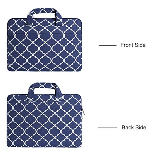 Wine Only for Navy 2016 Laptop Retina Bag Release Trellis Inch Moroccan MOSISO Cover Fabric Quatrefoil with 2015 Canvas Shoulder Blue Macbook Briefcase Sleeve Display Red 2017 Case 12 7OnSxqxfw
