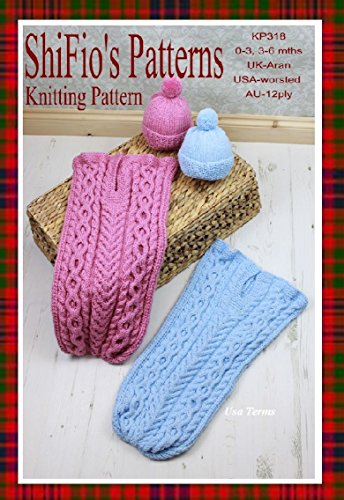 Aran baby cocoon and hat