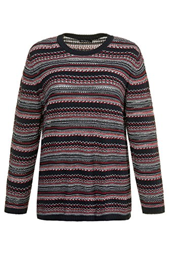 Ulla 714988 Popken Tailles Femme Grandes Pull Multicolore xqwpxUr0f