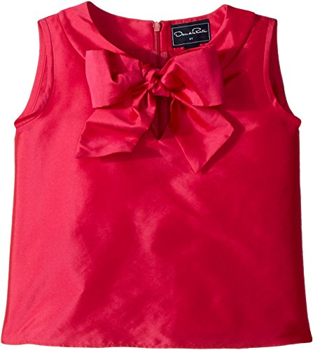 Oscar de la Renta Childrenswear Baby Girl's Taffeta Sleeveless Bow Blouse (Toddler/Little Kids/Big Kids) Fuchsia 4 by Oscar de la Renta