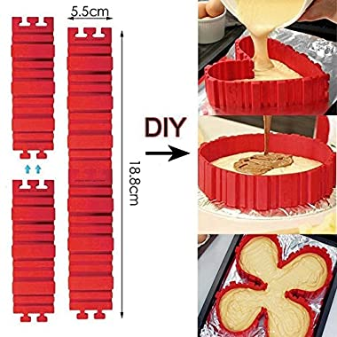 Nonstick 4PCS Silicone Cake Mold Cake Pan Magic Bake Snake DIY Baking Mould Tools - Design Your Cakes Any Shape