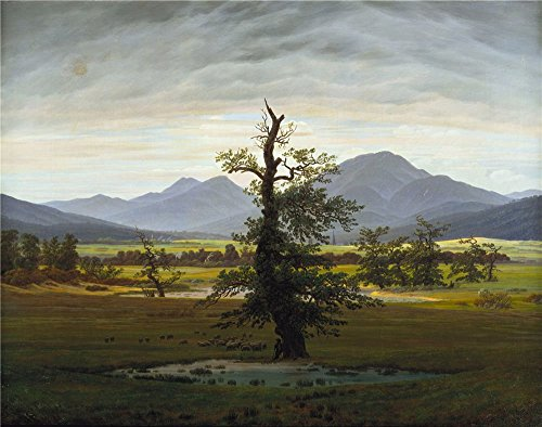 Polyster Canvas ,the Art Decorative Canvas Prints Of Oil Painting 'Caspar David Friedrich Der Einsame Baum ', 16 X 20 Inch / 41 X 52 Cm Is Best For Bedroom Artwork And Home Artwork And Gifts by RichardGallery