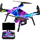 MightySkins Protective Vinyl Skin Decal for 3DR Solo Drone Quadcopter wrap cover sticker skins Light Waves