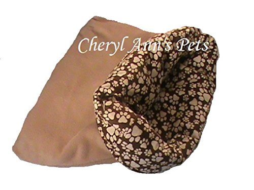 Dog or cat brown animal snuggle sack 20'' x 24'' has 3 layers
