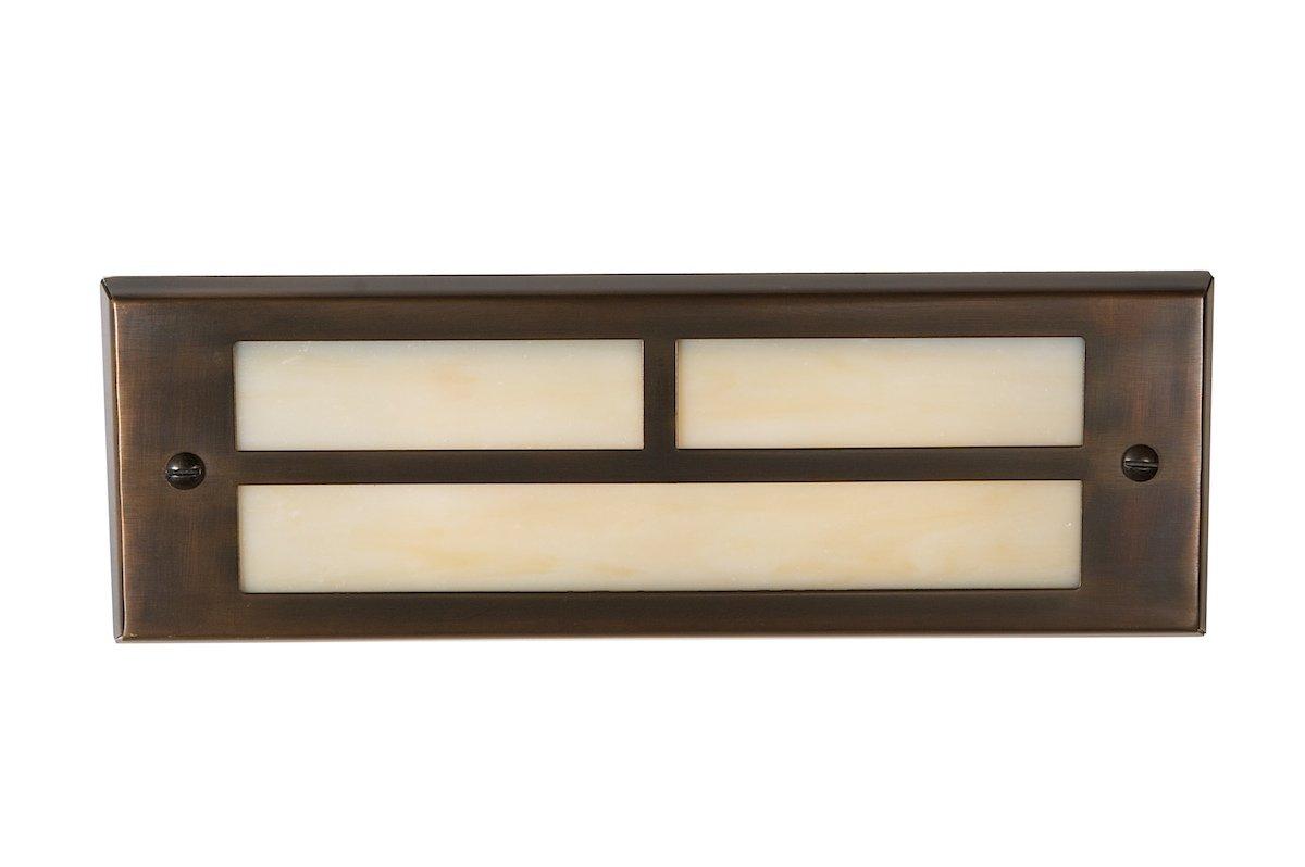 Highpoint Deck Lighting HP-774R-MBR Red Rocks 12-Volt T-Bar Brick Recessed Outdoor Deck and Step Light Fixture, Antique Bronze
