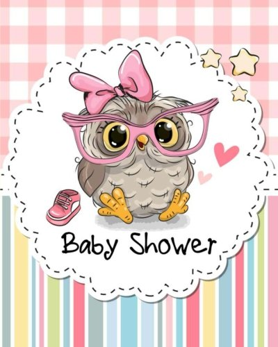 Baby Shower Notebook with Lined Pages For Guest Book/Sign In Book/Planning Book or Gift Recorder: Perfect as Baby Shower Journal/Planner or Game Book (Owl Notebooks) (Volume 2) (Owl Shower)
