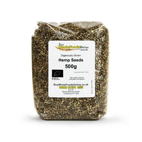 Buy Whole Foods Online Organic Hemp Seeds 500 g