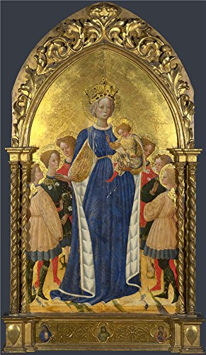 Oil Painting 'Francesco D'Antonio Di Bartolomeo The Virgin And Child With Six Angels And Two Cherubim ' Printing On High Quality Polyster Canvas , 20 X 34 Inch / 51 X 87 Cm ,the Best Bathroom Gallery Art And Home Gallery Art And Gifts Is This High Quality Art Decorative Canvas Prints (Cherub Wallpaper)