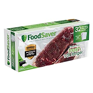 FoodSaver Gallon Heat Seal Pre-Cut Bags (32 Count) (B0048BPWKU) | Amazon price tracker / tracking, Amazon price history charts, Amazon price watches, Amazon price drop alerts