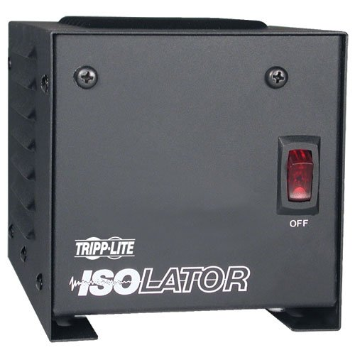 Tripp Lite IS250 Isolation Transformer 250W Surge 120V 2 Outlet 6 feet Cord TAA GSA