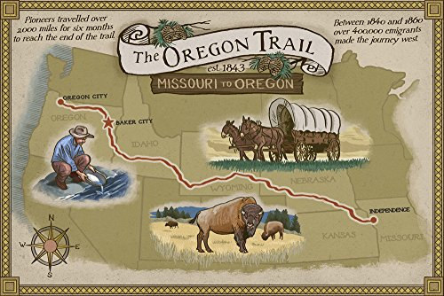poster map of oregon trail