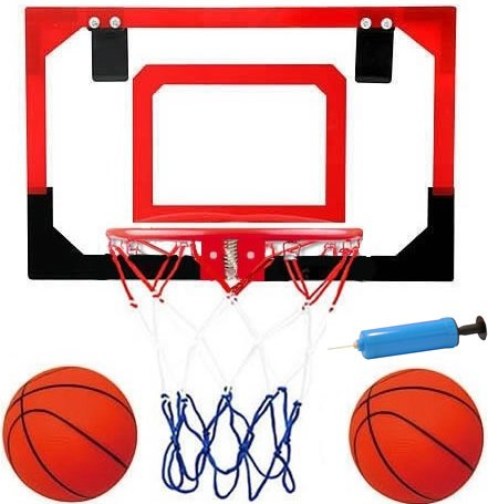 Professional Grade Over the door Basketball Hoop with Pre-Installed Door Hooks, GREAT for Kids and Adults too!! With Steel RIM!!! Now W/ 2 Basketballs & PUMP! Makes a Great Birthday or Fun Gift Idea! by SavvyStreet Kids