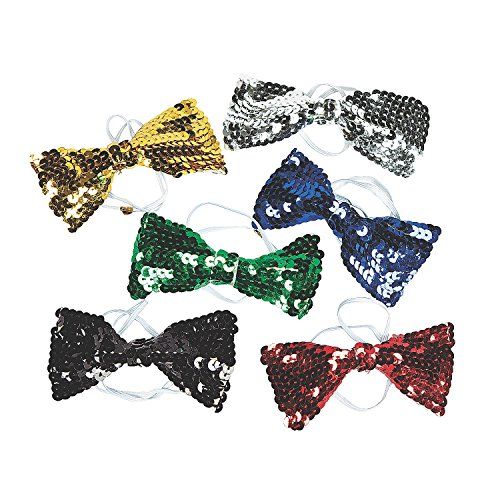 Dozen Assorted Sequin Bow Ties