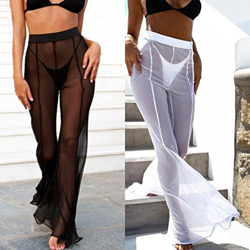 ab6ce7b070 Jushye Hot Sale!!! Women's Beach Mesh Pants, Ladies Sheer Transparent Bikini  Cover up Swimwear Long Pant Trousers